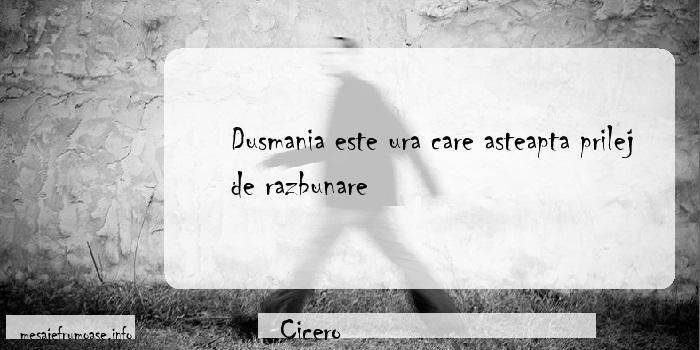 Cicero - Dusmania este ura care asteapta prilej de razbunare