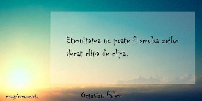 Octavian Paler - Eternitatea nu poate fi smulsa zeilor decat clipa de clipa.