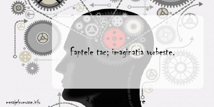 Rabindranath Tagore - Faptele tac; imaginatia vorbeste.