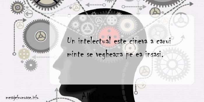 Albert Camus - Un intelectual este cineva a carui minte se vegheaza pe ea insasi.