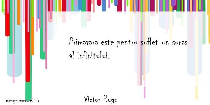 Victor Hugo - Primavara este pentru suflet un suras al infinitului.
