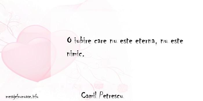 Camil Petrescu - O iubire care nu este eterna, nu este nimic.