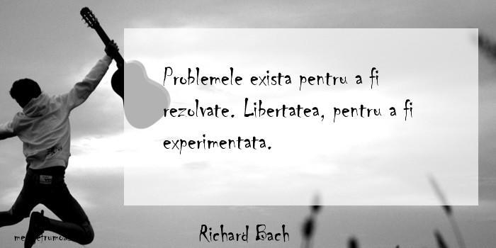 Richard Bach - Problemele exista pentru a fi rezolvate. Libertatea, pentru a fi experimentata.