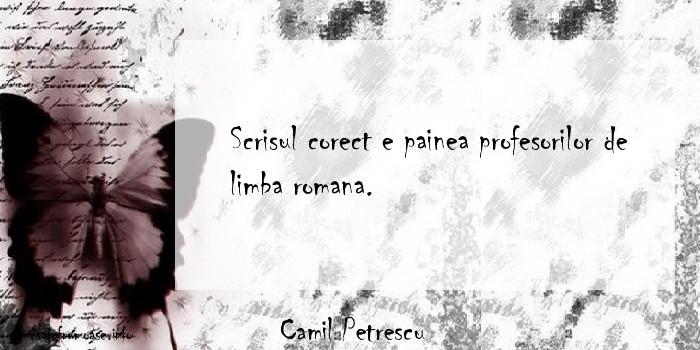 Camil Petrescu - Scrisul corect e painea profesorilor de limba romana.