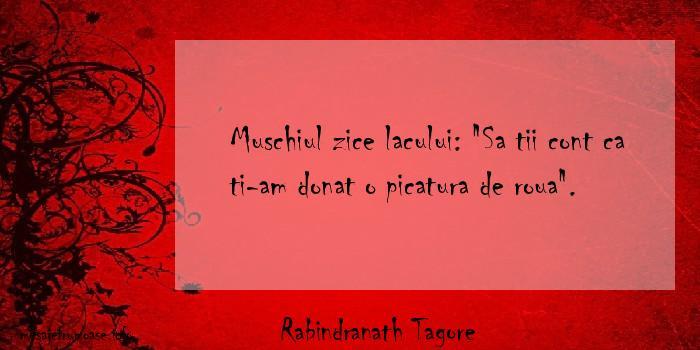 Rabindranath Tagore - Muschiul zice lacului:
