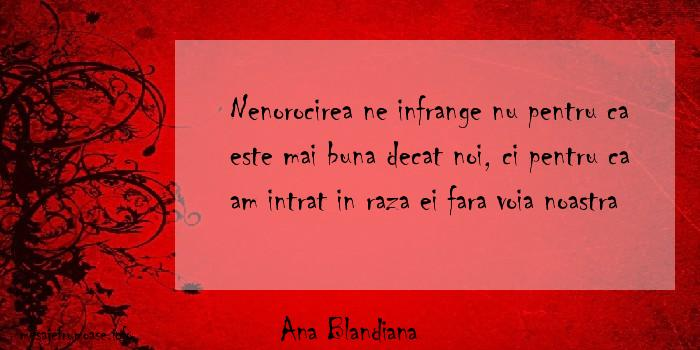 Ana Blandiana - Nenorocirea ne infrange nu pentru ca este mai buna decat noi, ci pentru ca am intrat in raza ei fara voia noastra