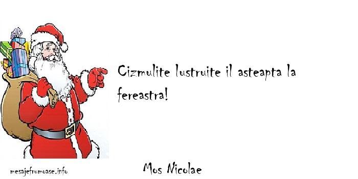 Mos Nicolae - Cizmulite lustruite il asteapta la fereastra!