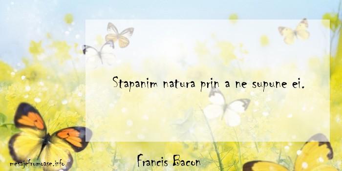 Francis Bacon - Stapanim natura prin a ne supune ei.