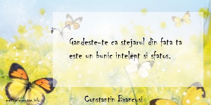 Constantin Brancusi - Gandeste-te ca stejarul din fata ta este un bunic intelept si sfatos.
