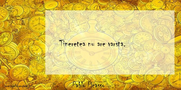 Pablo Picasso - Tineretea nu are varsta.