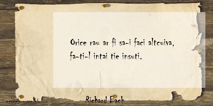 Richard Bach - Orice rau ar fi sa-i faci altcuiva, fa-ti-l intai tie insuti.