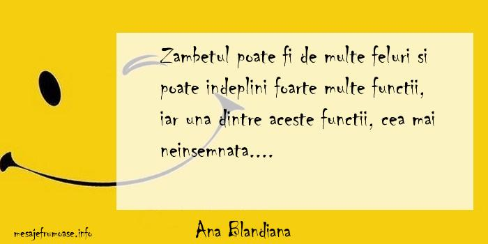 Ana Blandiana - Zambetul poate fi de multe feluri si poate indeplini foarte multe functii, iar una dintre aceste functii, cea mai neinsemnata....